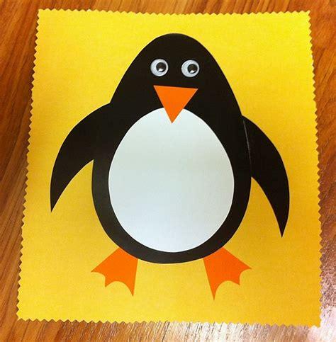 penguin paper crafts penguin craft library animals
