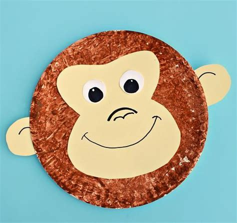animal crafts for monkey paper plate craft allfreekidscrafts