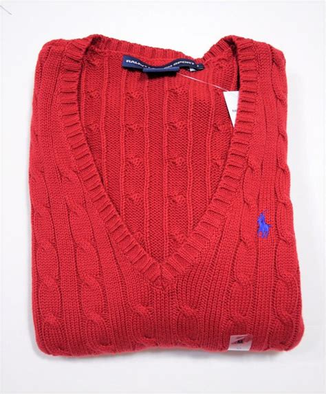 womens ralph cable knit sweater nwt polo ralph womens vneck sleeve cable knit