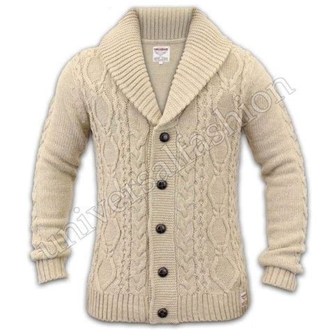 mens knitted cardigan details about mens cardigan cable knit chunky threadbare