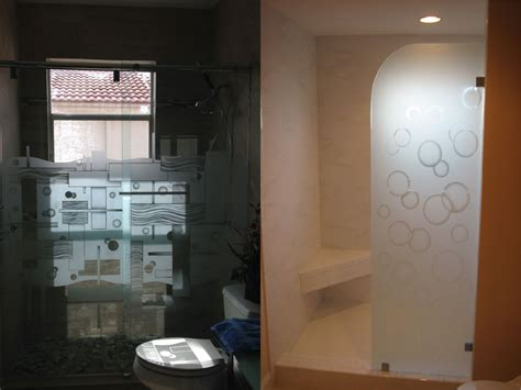 etched shower doors etched glass shower doors