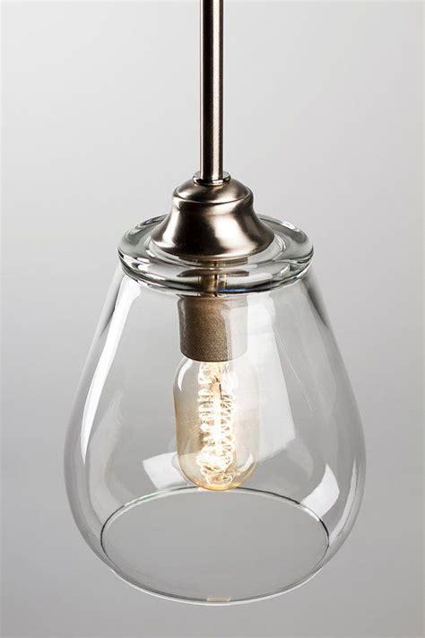pendant light fixture edison bulb brushed nickel