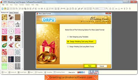 wedding card software screenshots of wedding card maker software to learn how to