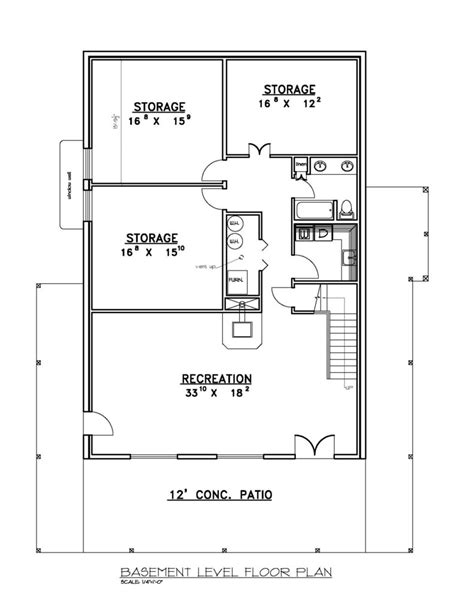 ranch house floor plans with basement house plans with basement rustic mountain house floor plan