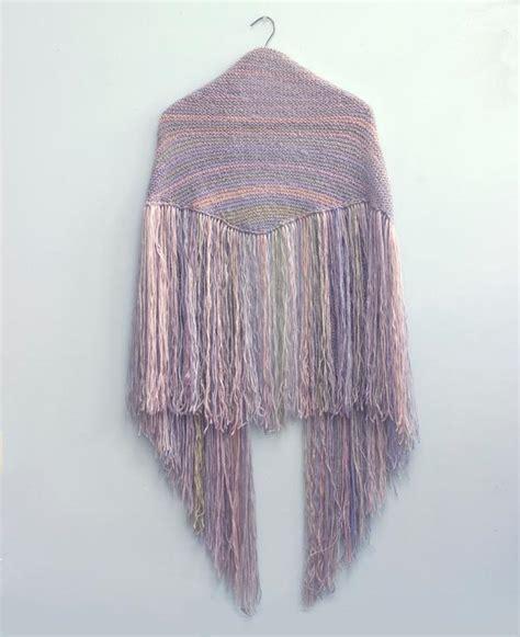 fringe knitting boho fringe shawl pattern by black iris craftsy