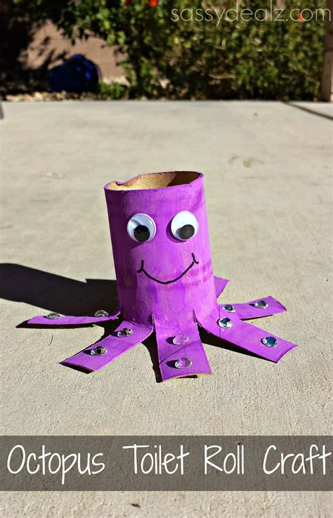 octopus toilet paper roll craft octopus toilet paper roll craft for crafty morning