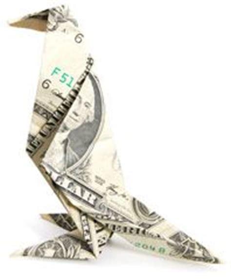 dollar bill origami penguin creative folds for money on money origami