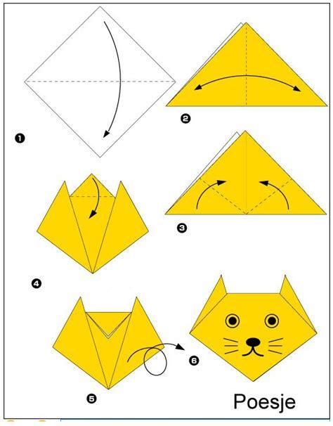 easy origami for beginners origami poesje vouwen origami