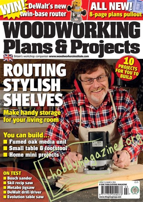 woodworking magazines free woodworking plans projects march 2011 187 hobby