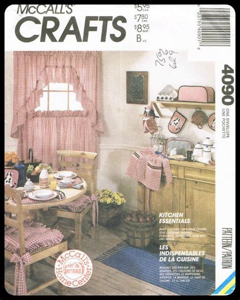 kitchen curtain sewing patterns mccall s sewing pattern crafts kitchen essentials curtains