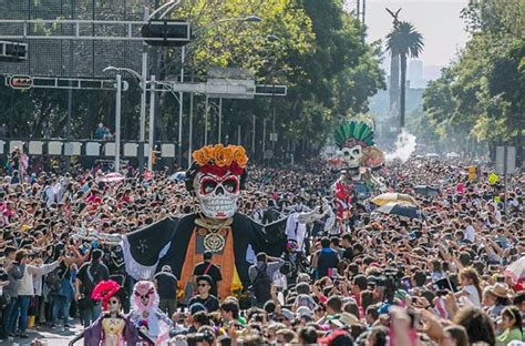 festival mexico city mexico city day of the dead parade attracts crowds and