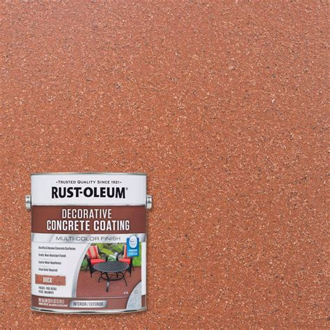 home depot masonry paint colors rust oleum 1 gal brick decorative concrete coating 2