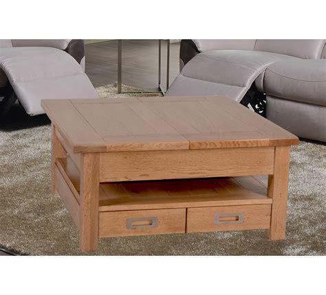 table basse carree chene massif 6808