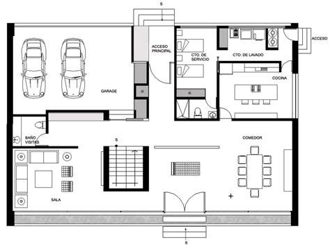 ground floor house plan gp house in hidalgo mexico by bitar arquitectos
