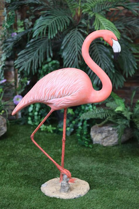 Garden Ornaments And Accessories Galleries Large Flamingo Statue Walking Shop Your Way