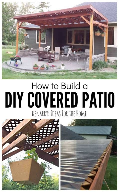 backyard wood patio how to build a diy covered patio