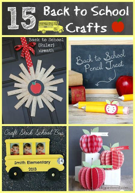 back to school crafts for i dig 15 creative back to school crafts