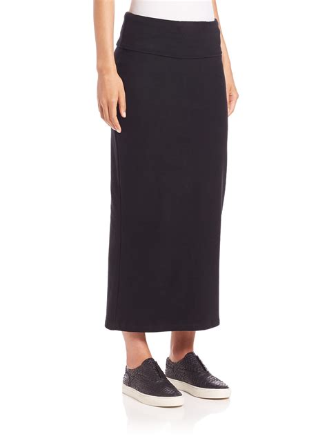 black knit maxi skirt knit maxi pencil skirt in black lyst
