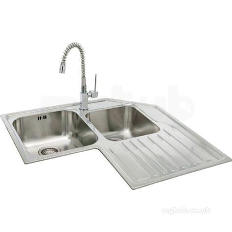 lavella corner kitchen sink with right bowl