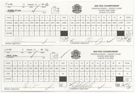 Bmw Golf Chionship by Tiger Woods Scorecard From Today Image Of Tiger