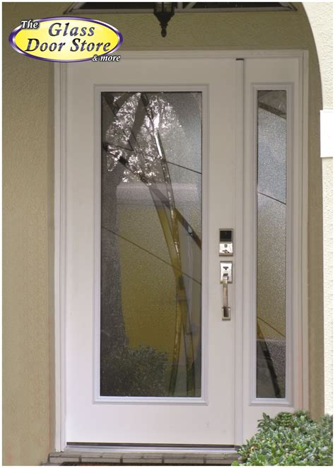 door sidelight glass modern front door with glass insert and sidelight