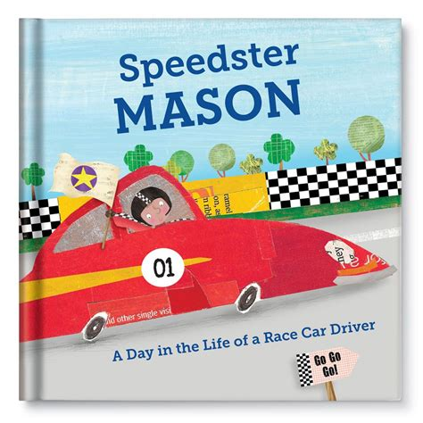 personalized children books with their picture a day in the of a racecar driver personalized