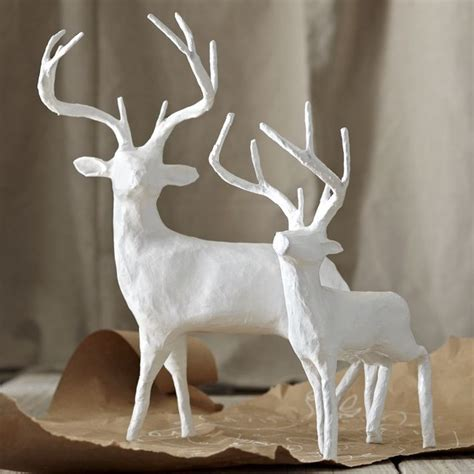 white reindeer decorations papier m 226 ch 233 reindeer modern accents and