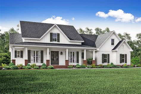 farmhouse style house plans 3 bedrm 2466 sq ft country house plan 142 1166