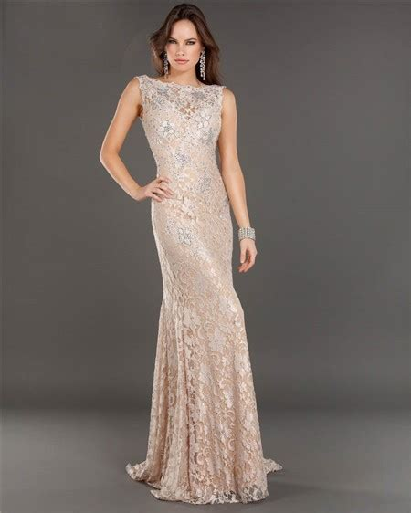 beaded evening dresses mermaid backless chagne lace beaded evening prom dress
