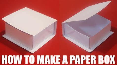 to do with paper how to make a paper box with a lid that opens