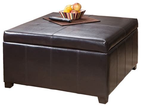 coffee table with storage ottomans berkeley espresso leather storage ottoman coffee table