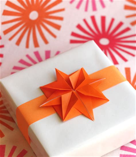 origami gift bow origami paper for garlands or gifts how about orange