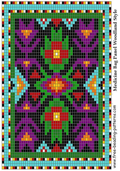 loom beading patterns designs great lakes 02 woodland loom beadwork design free