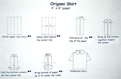 origami shirt folding s day origami card lakesidester