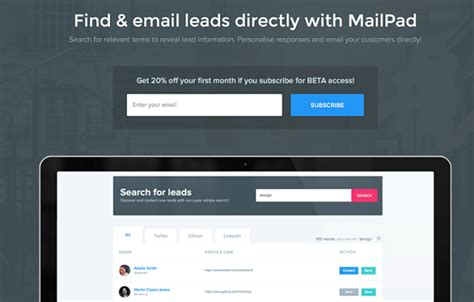 graphic design project leads best new startup mailpad simplifies the search of new leads