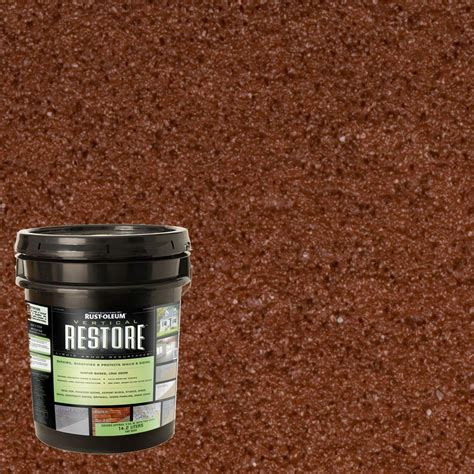 home depot restore paint colors rust oleum restore 4 gal navajo vertical liquid armor