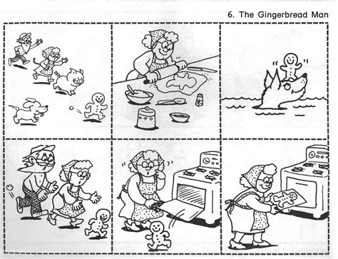 sequencing picture books gingerbread baby outline new calendar template site