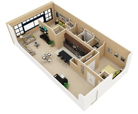 two bedroom house designs 50 3d floor plans lay out designs for 2 bedroom house or