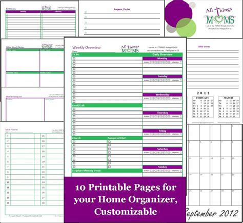 home organizer home organizer free printable all things