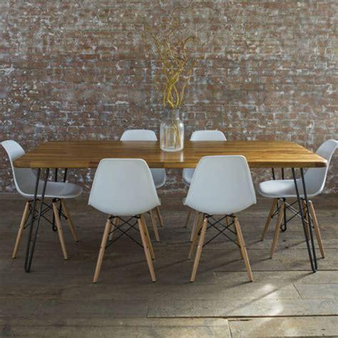 mid century dining tables iroko midcentury modern hairpin leg dining table by biggs