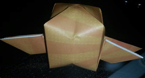 origami snitch origami golden snitch winged balloon by chitanoyume on