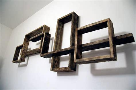 wall mounted shelving units decorative pallet wall shelves unit pallet furniture plans