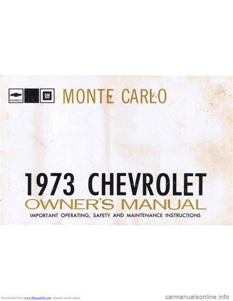 service manuals schematics 1973 chevrolet monte carlo parking system chevrolet monte carlo 1973 2 g owners manual