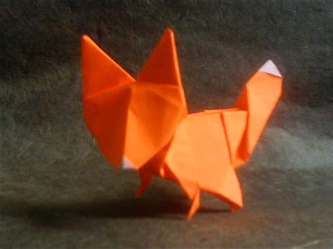 how to make a origami fox origami fox by haditahir on deviantart