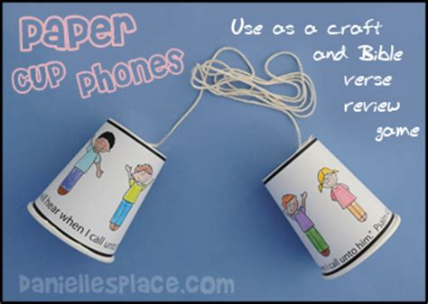 paper cup telephone craft bible crafts and activities for sunday school themes