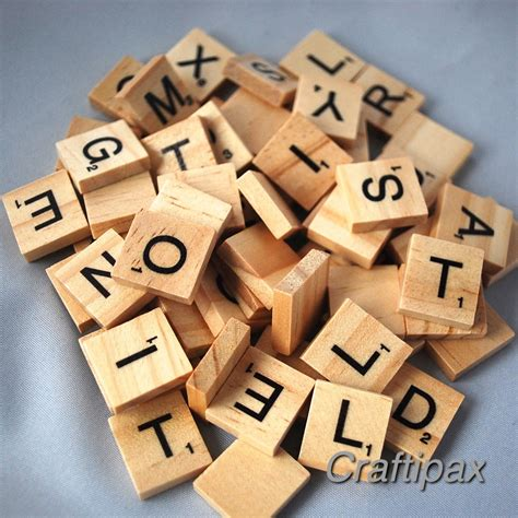 scrabble letters for crafts 100 wooden letter scrabble tiles scrapbooking craft uk