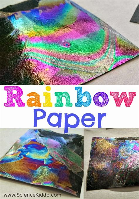 science craft for rainbow paper color science for science kiddo
