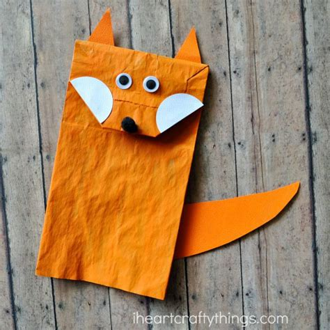 paper bag crafts paper bag fox craft for i crafty things