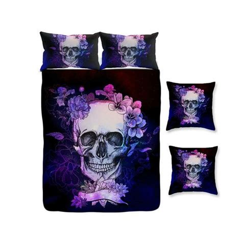 skull and bones bedding set 25 best ideas about purple duvet covers on