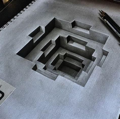 3d drafting 3d pencild drawing by dribblack